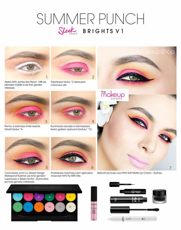 Paleta Farduri Sleek Ultra Mattes Brights V1 - Makeup Shop