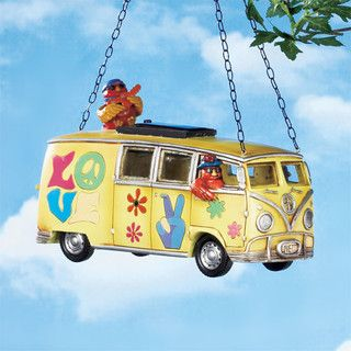 Cute hippie bus birdhouse/ feeder!