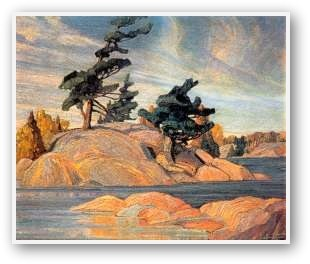 """Franklin Carmichael (1890 – 1945) was a Canadian artist. He was the youngest original member of the Group of Seven.  """"Island Georgian Bay"""""""