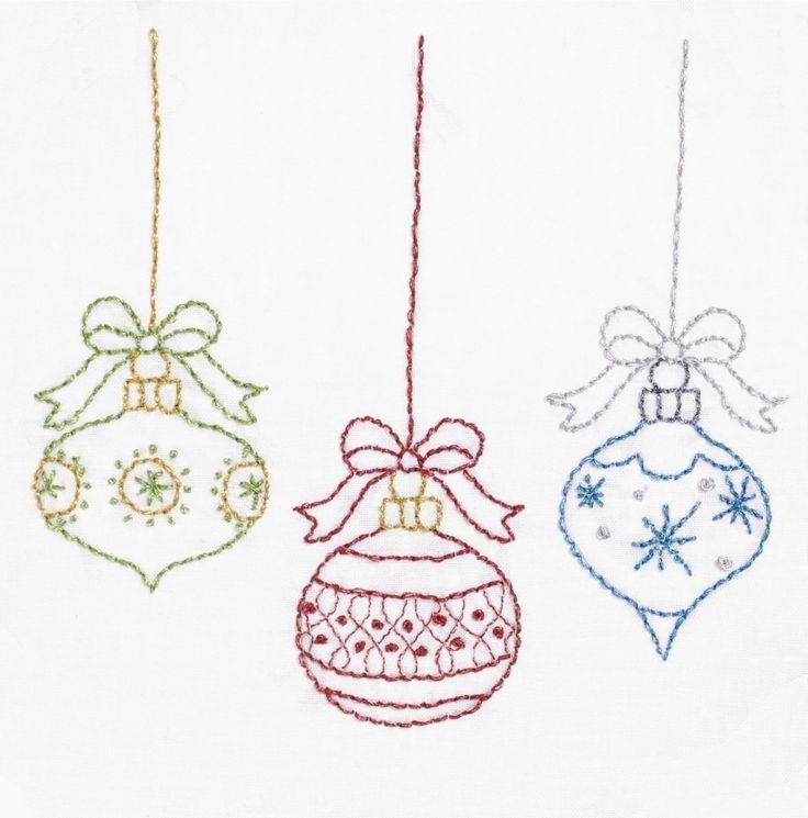 Christmas Embroidery Pattern Merry Christmas Embroidery Pattern. $3.00, via Etsy.