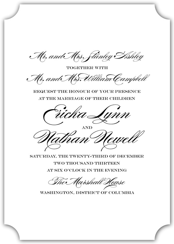 34 best Simple Classic Wedding Invitations images on Pinterest