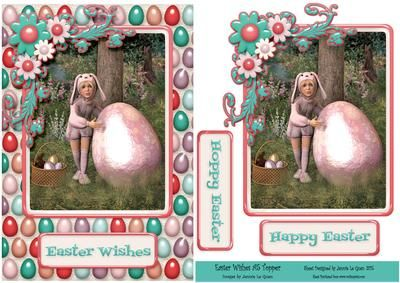 Easter Wishes A5 Topper on Craftsuprint - Add To Basket!