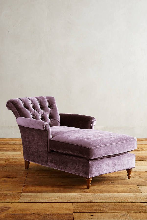 Anthropologie Slub Velvet Gwinnette Chaise