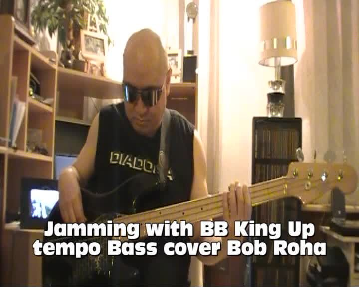 Jamming with BB King Up tempo Bass cover Bob Roha