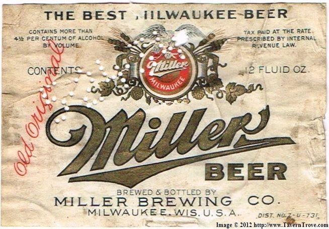 6f65e3285f50a Tavern Trove   Miller Beer