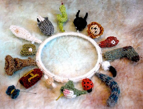 care of magical creatures charm bracelet 3 by TinyOwlKnitsPatterns
