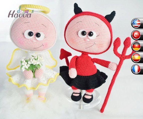 PATRÓN  Bonnie con traje de diablo y Ángel Costume por HavvaDesigns
