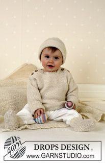 DROPS bluse, sokker, bold, rangle. (Hue og Tæppe: se opskrift under model nr 12-14) ~ DROPS Design