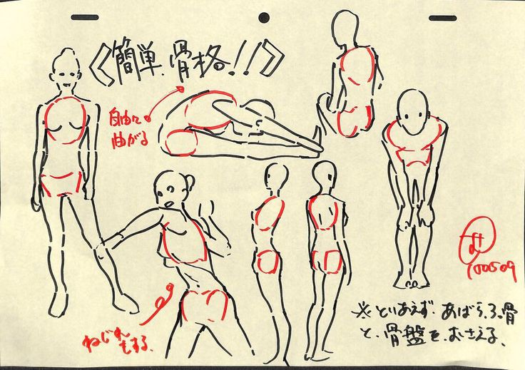 How to draw different postures
