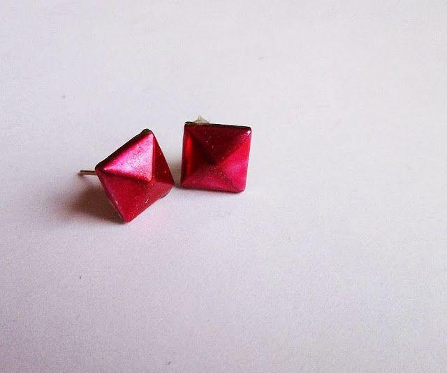 ... a little diy blog: DIY Colourful Stud Earrings