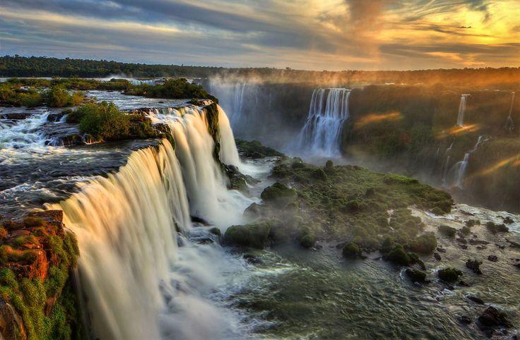 Iguazu Falls; boarder between Argentina and Brazil