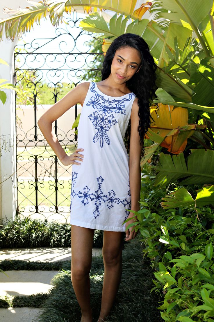 Perfect for cooling off at the poolside, our Island Lily's tunic is cut from light weight cotton.  Enbroided with striking contrasting navy it will make you feel that you are lounging around in Greece! http://www.islandlily.co.za/beachwear/fiskardo-tunic