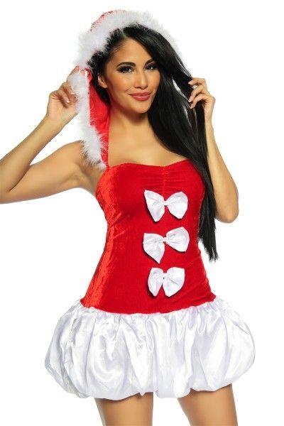 Weihnachtskostüm Petticoatkostüm Sexy Santakostüm
