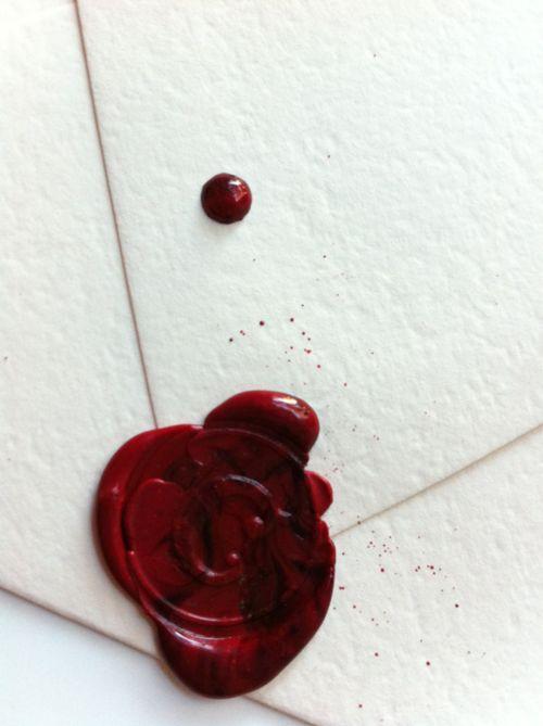 Aqueceu a cera de vermelho vivo e deitou sobre o nó que fechava a carta para Inês. Comprimiu-o com o simbolo que mandara fazer em seu nome. Era visivel o nome do infante ao redor do seu rosto em relevo.