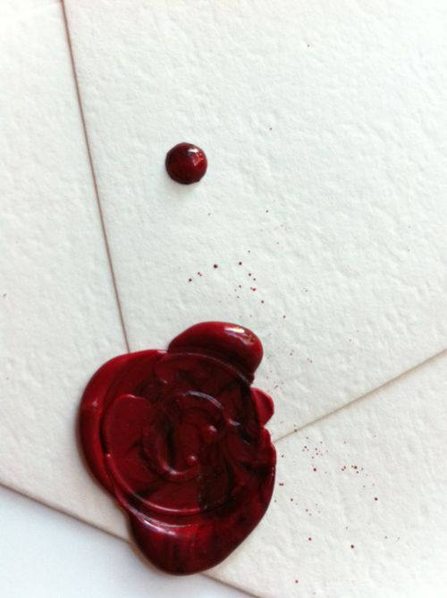 Reminder to Self: Get Sealing Wax Out