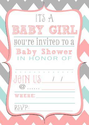 FREE baby shower invitation download!