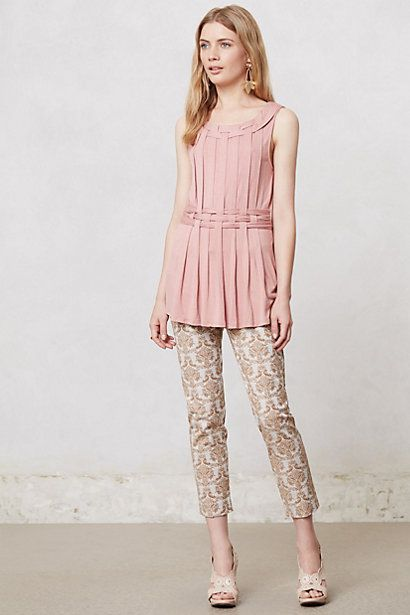 Pleated Avant Top #anthropologie