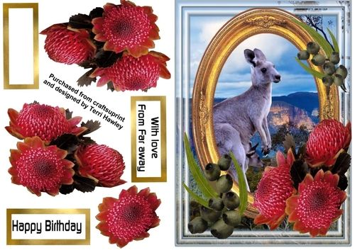 This Is A Great Card To Send From Or Australia With Its Australian Theme