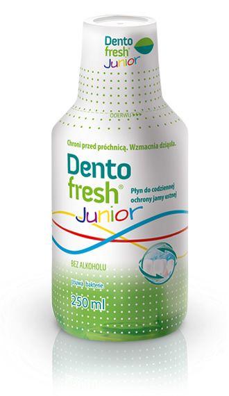 DentoFresh Junior - płukanka dla dzieci. Płukanka do ust DentoFresh Junior jest dedykowana dzieciom od 6. roku życia. #plyndoplukaniaust #dentofresh