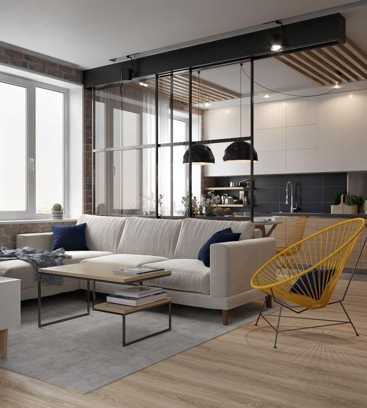 Kitchen-living room on Behance