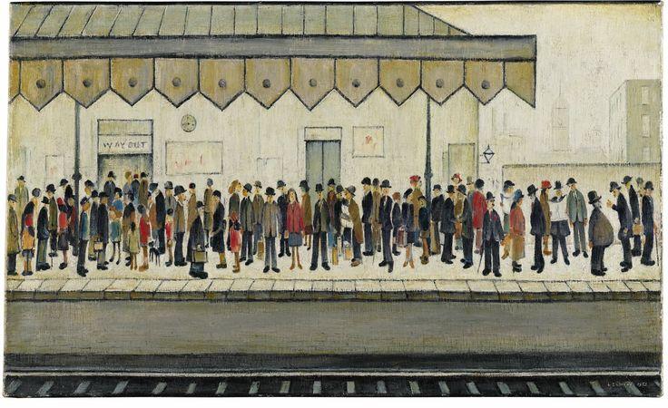 L. S. Lowry, The Railway Platform, 1953