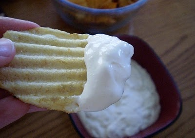 Alton Brown's homemade onion dip. Yum!