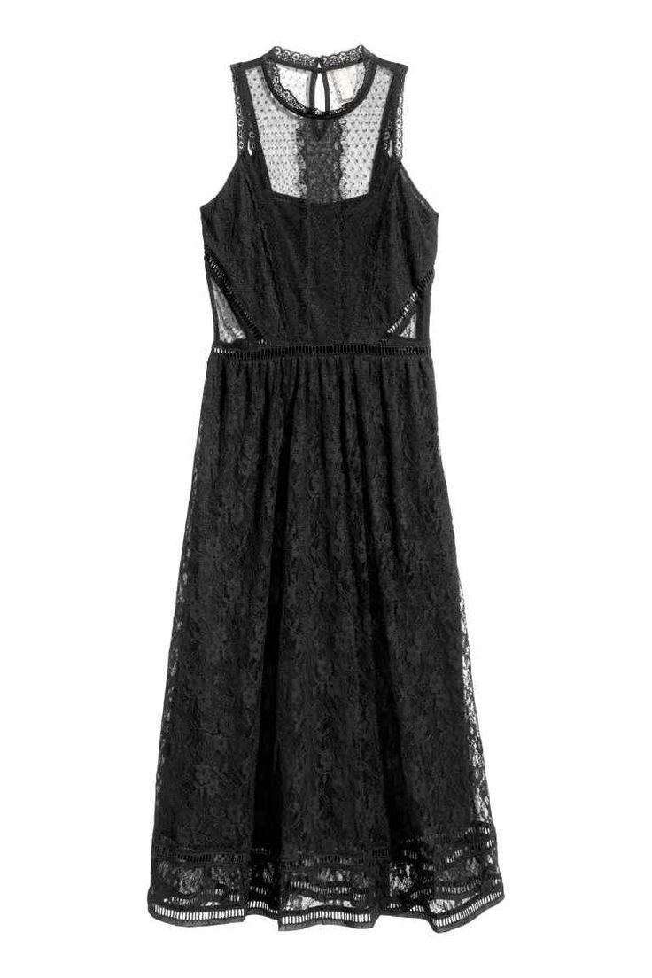Koronkowa sukienka maxi | H&M