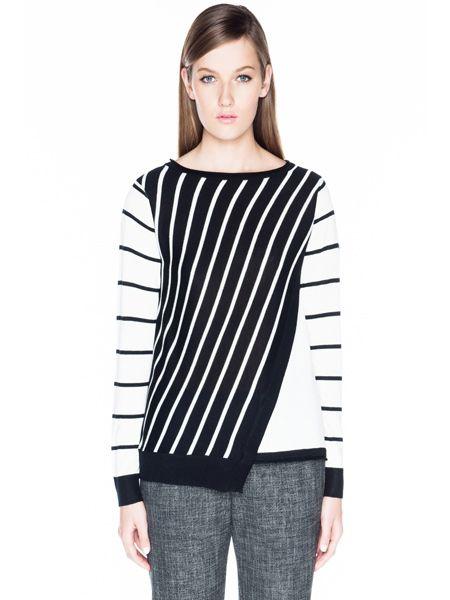 Asymmetric Stripe Knit