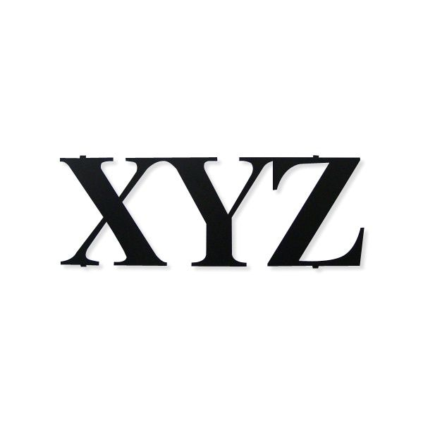Wall hanger XYZ - Domovo Design  Decorative, metal wall hanger XYZ - three letters, on which you can hang clothes, jewelry and keyes.