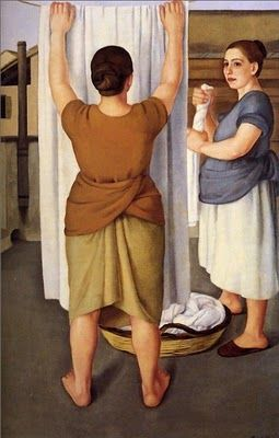 """The Laundresses"" by Antonio Donghi"