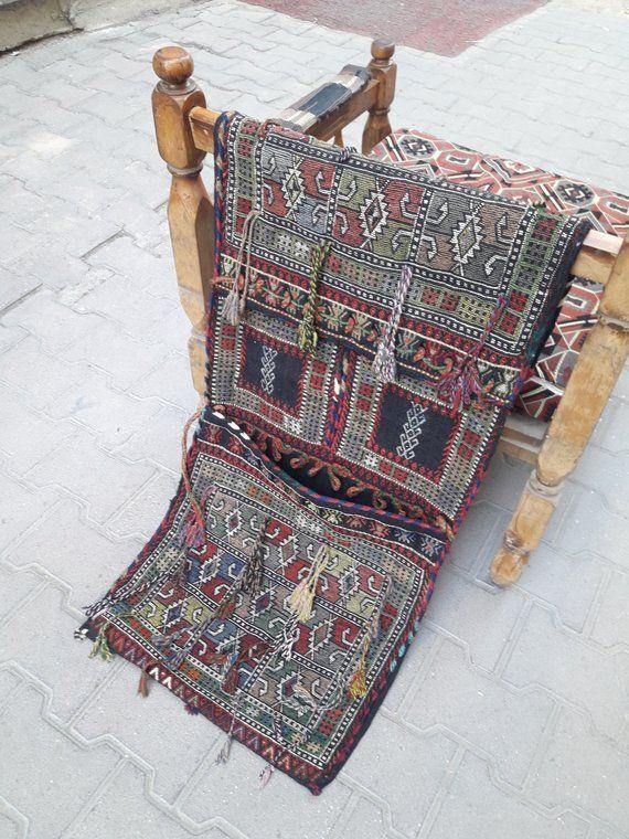 de10150272 Kilim sadlebag Camel bag vintage saddlebag hand made wall rug turkish rug  turkish saddlebag home dec