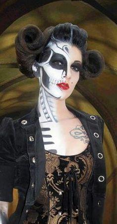 vintage halloween makeup | Halloween makeup