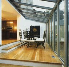 don't like the choppy look of the glass. do like sunken room to glass doors