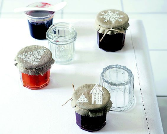 How-Tuesday: Jam Jar Gift Toppers From A Rainbow of Stitches