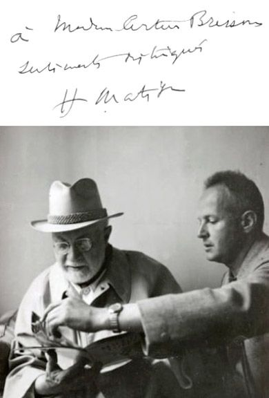 Henri Matisse and Henri Cartier-Bresson, 1944 -by Hélène Adant