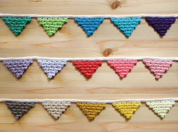 Crochet Triangle Garland  Crochet Decor  Bunting