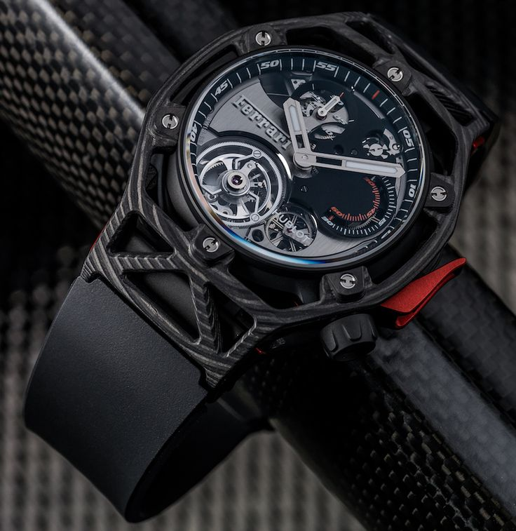 Case back of the new Hublot Techframe Ferrari Tourbillon Chronograph Watch Celebrating Ferrari's 70th Anniversary. Fresh article about it already up on the site..@hublot