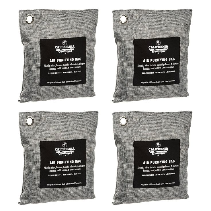 Amazon.com: 4 Pack - California Home 200g Activated Bamboo Charcoal Deodorizer Natural, Air Purifying Bags, Dehumidifier, Allergy-Free Filters, Odor Neutralizer for Home, Shoes, Car, Charcoal Colored: Home & Kitchen
