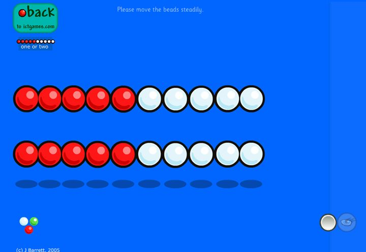 Here's an interactive math rack from ICT games.