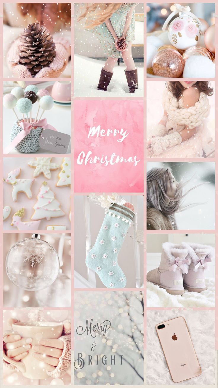 Collage Wallpaper Xmas colours iPhone X Wallpaper 375628425169012539