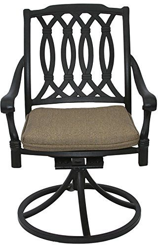 San Marcos Cast Aluminum Outdoor Patio Swivel Rocker Chair With Cushion Click Image To Review More Details This Is An Affiliate Link Patiofurniture