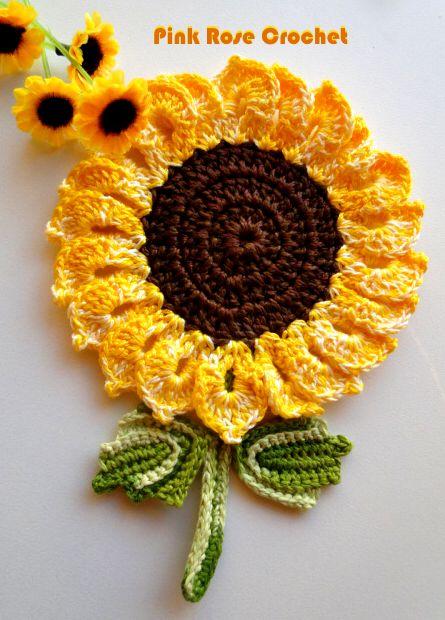 Pink Rose Crochet: Resultados da pesquisa pega panelas girassol