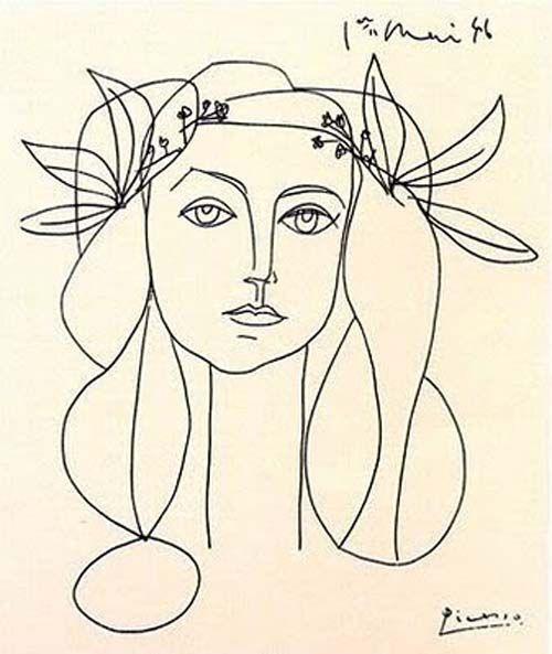 Francoise Gilot par Picasso