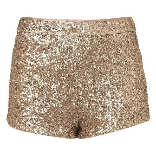 Sequin Shorts ❤ liked on Polyvore featuring shorts, gold sequin shorts, sequin shorts and gold shorts