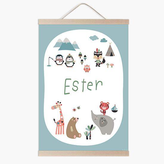 Lámina infantil mapamundi animal blanco a conjunto con tu vinilo infantil mapamundi a la venta en la tienda online de vinilos infantiles.