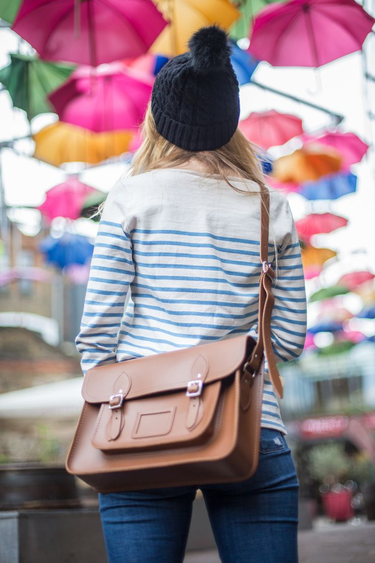 Our Classic Vintage Satchel at one of our favourite places in London. Colourful Borough Market!