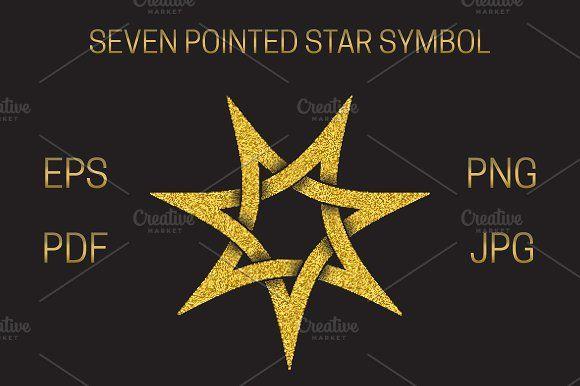 Seven Pointed Star Symbol Raster Image Symbols Party Logo