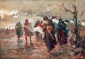 El entierro de San Lorenzo año 1886 Autor: Enrique Simonet