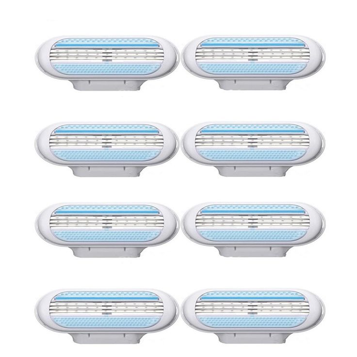 8PCS Female Shaving Razor Blades for Women Care Body Shaver Trimmer Best Quality 3- Blades Barber Hair Removal Epilator Machine #clothing,#shoes,#jewelry,#women,#men,#hats,#watches,#belts,#fashion,#style