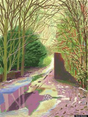 David-Hockney | digital art | drawn on i-pad